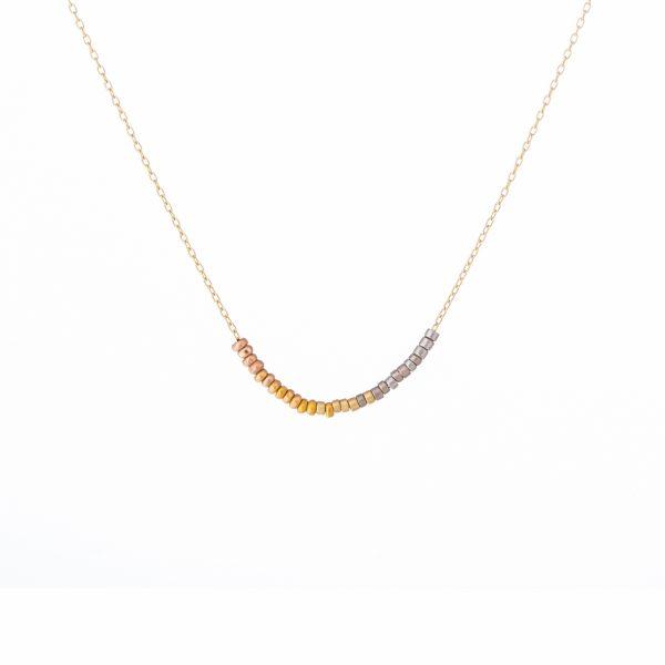 Sia Taylor KN11 Y Rainbow Gold Tiny Bead Rainbow Necklace WB