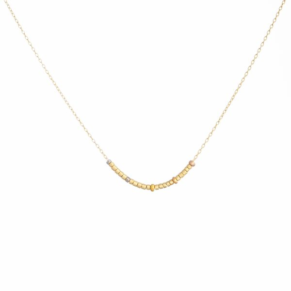 Sia Taylor KN17 RAIN Tiny Golden Bead Necklace WB