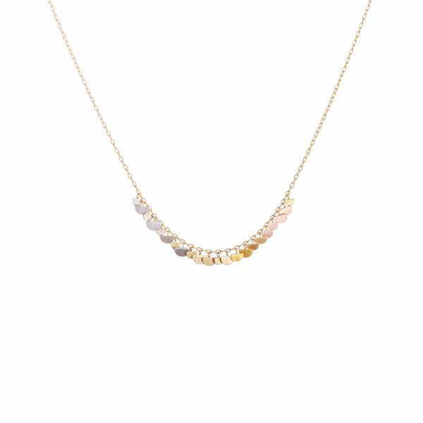 Sia Taylor KN30 RAIN Rainbow Gold Sunrise Arc Necklace WB