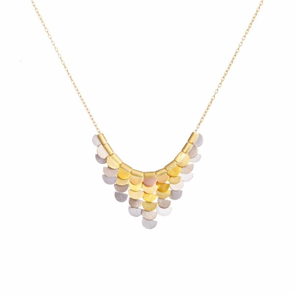 Sia Taylor KN33 RAIN Rainbow Gold Sunrise Necklace WB