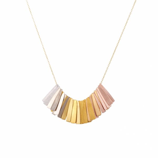 Sia Taylor KN4 Y Rainbow Golds Ray Necklace WB