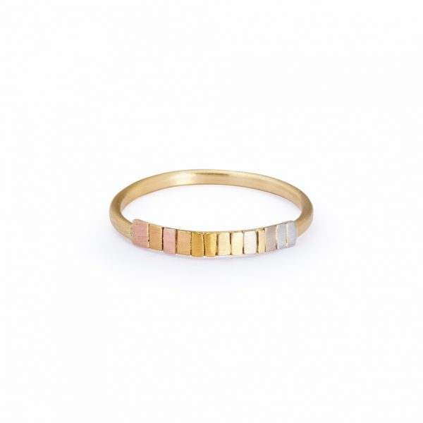 Sia Taylor KR14 RAIN Rainbow Gold Arc Band WB