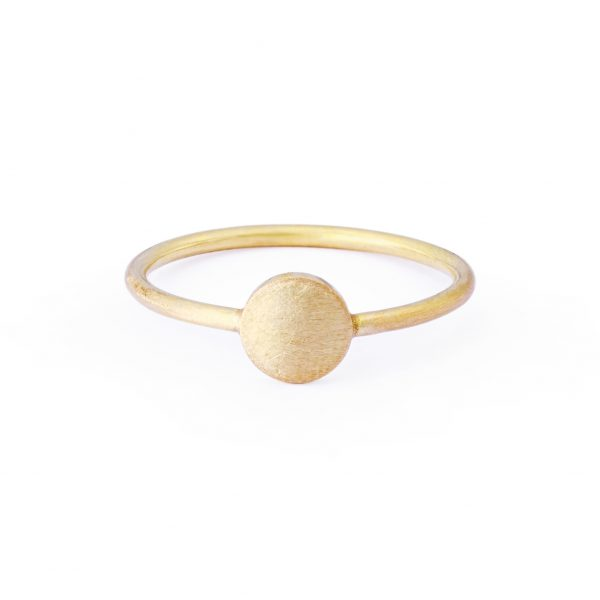 Sia Taylor KR1 Y Yellow Gold 5mm Moon Ring WB