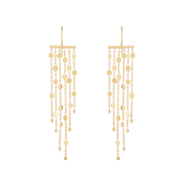 Sia Taylor SE2 Y Yellow Gold Falling Dust 6 Strand Earring WB