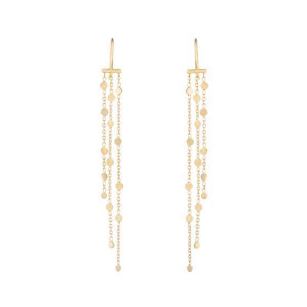 Sia Taylor SE3 Y Yellow Gold Falling Dust Earring WB
