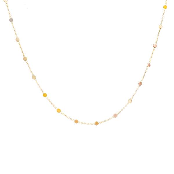 Sia Taylor SN3 RAIN Rainbow Gold Dust Necklace WB