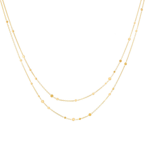 Sia Taylor SN5 Y Yellow Gold Scattered Dust Double Chain Necklace WB