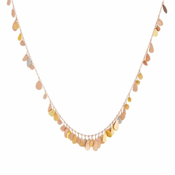 Sia Taylor TN1 RMIX Raindrop Gold Necklace WB