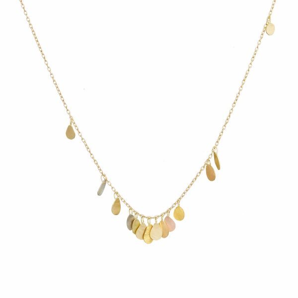 Sia Taylor TN2 YMIX Tiny Raindrop Gold Necklace WB